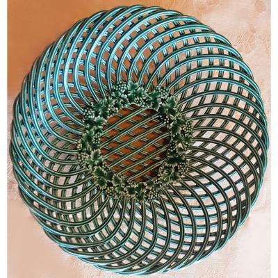 Old Openwork Basket Italian Faience Fabriano