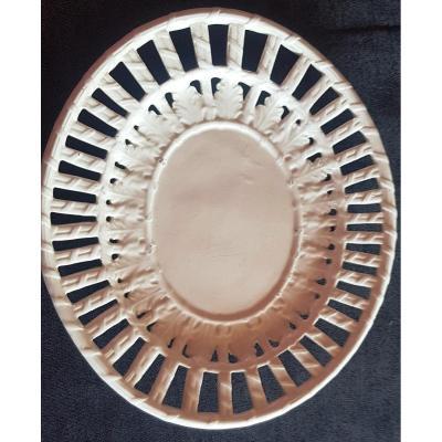 Old Openwork Plate In Italian Earthenware Bassano Early XXs