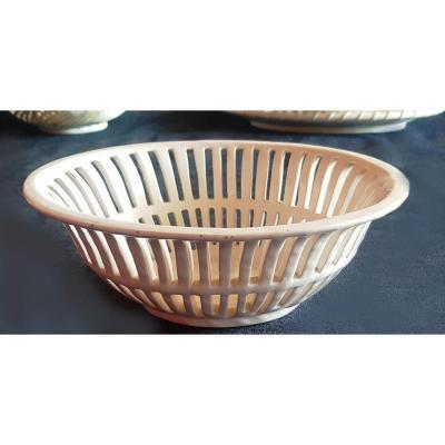 Old Openwork Earthenware Basket Bassano Italy