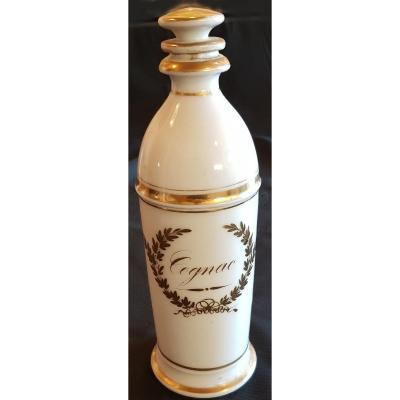 Bouteille Cognac Porcelaine De Paris XIX S