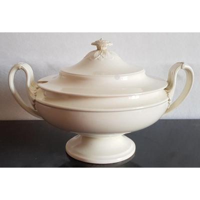 Wedgwood Antique Faience Creamware Soup Tureen England Circa 1820 Diam 33 Cm H 21 Cm