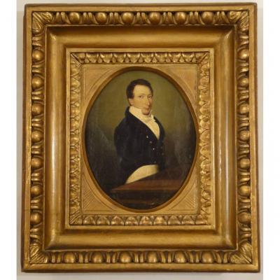 Ecole Française, Vers 1810. Portrait d'un Homme De Qualité.