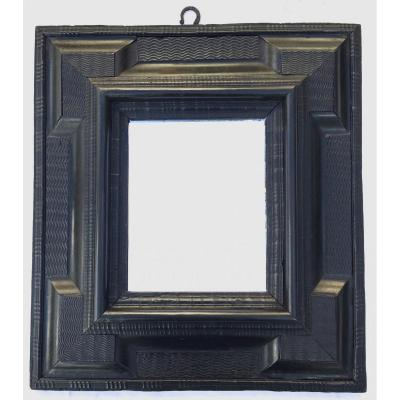 Frame, With Mirro, Ebony Veneerd And Blackened Pearwood. Flanders Or The Netherlands.