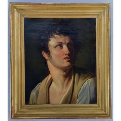 Ecole De David, Vers 1800. Portrait d'Homme.
