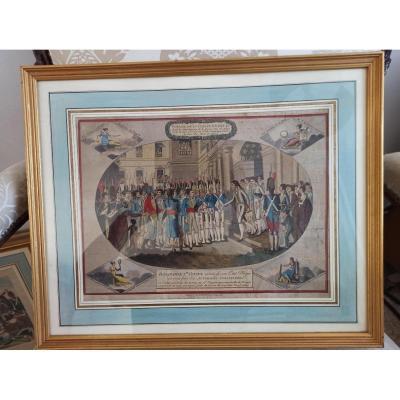 Gravure 'Bonaparte 1er Consul' d'époque XIXe siècle