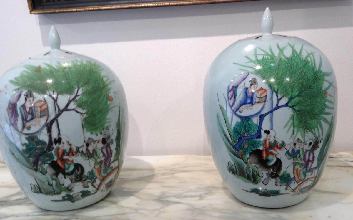 Paire De Vases Chinois