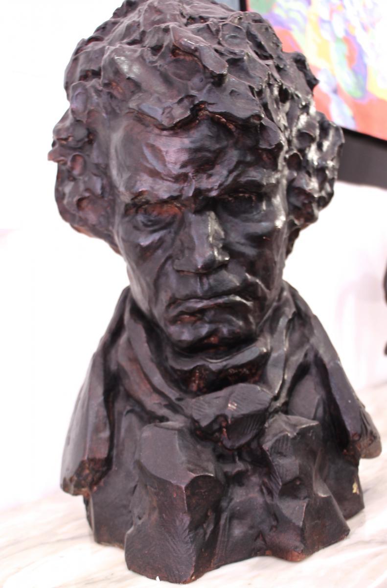 Terracotta Bust Beethoven