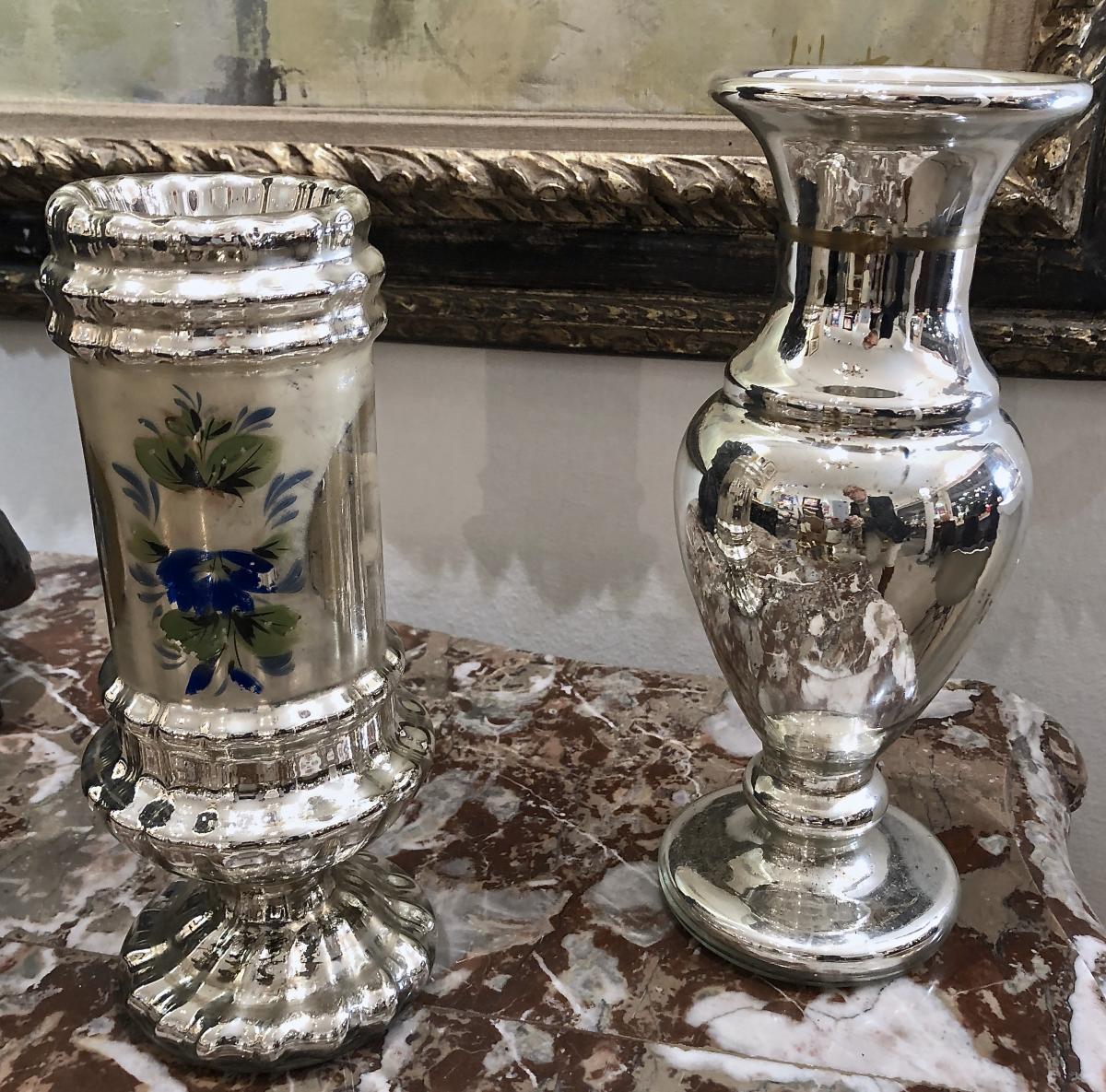 Mercurised Glass Vases
