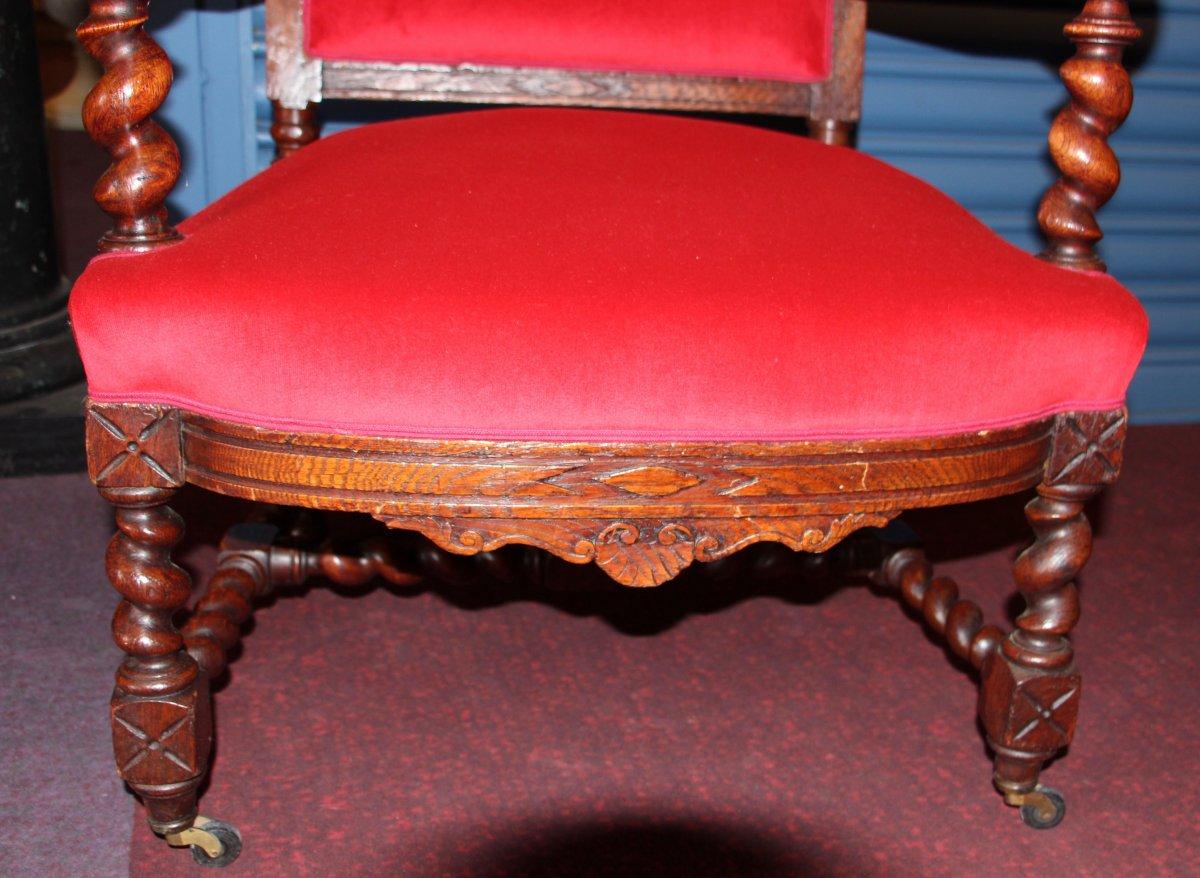 Paire de fauteuils de style LouisXIII-photo-1