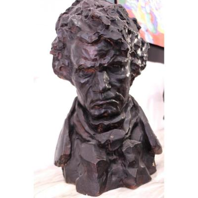Terracotta Bust Beethoven