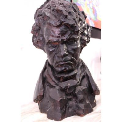 Buste Terre Cuite Beethoven
