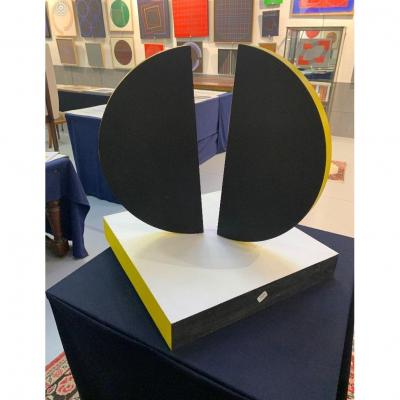 Sculpture by Romano ZANOTTI 1934 - 2019<br /> Space sculpture 2003<br /> Exhibited at the Denise RENE gallery<br /> Certificate of her daughter Ms. Zanotti