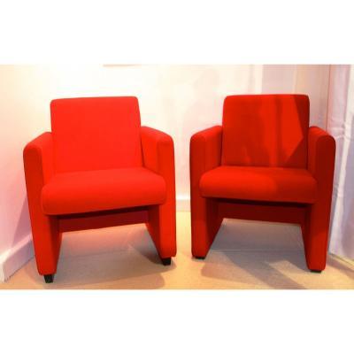 Pair Of Scandinavian Armchairs