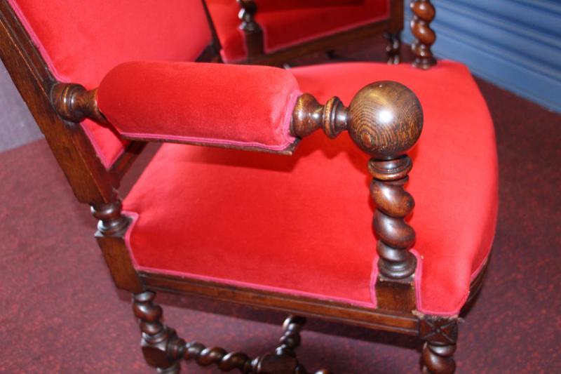 Paire de fauteuils de style LouisXIII-photo-4