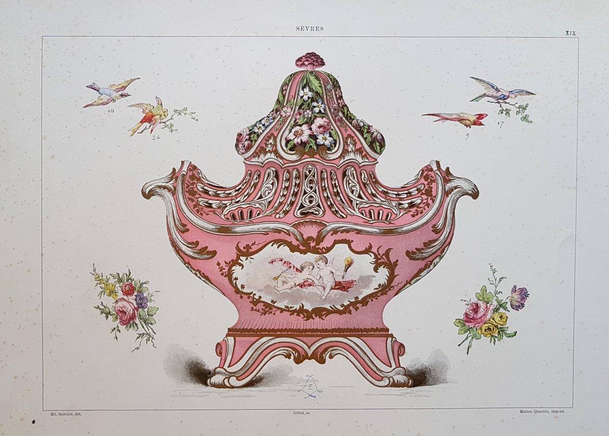 Ed. Garnier, Sèvres, 1892. Chromo Lithographie :  vase de la Royal Collection Trust UK