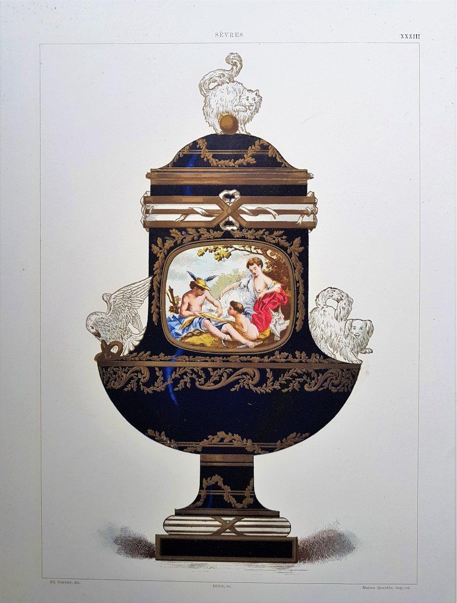 E. Garnier, Chromo Lithographie, Sèvres. 1892 : Vase Angora (Buckingham Palace)