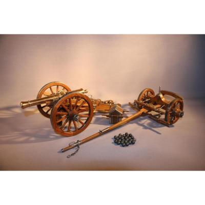 Maquette De Canon De Campagne 8 Livres, Artillerie Lisse - Système Gribeauval