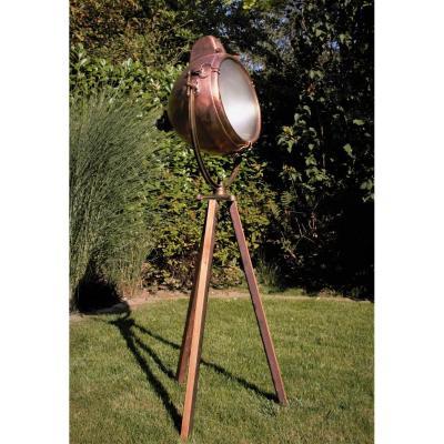 """General Electric 1929. Projecteur US ou phare de recherche"""". Articulé, rare et fonctionnel."""