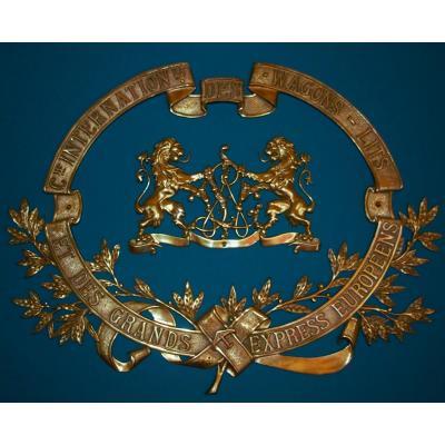 Monogramme En Bronze Des Wagons-lits. Débuts XXe