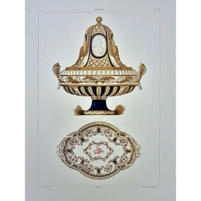 Ed. Garnier, 1892, Color Lithographs Of Sevres Pieces By Edouard Garnier