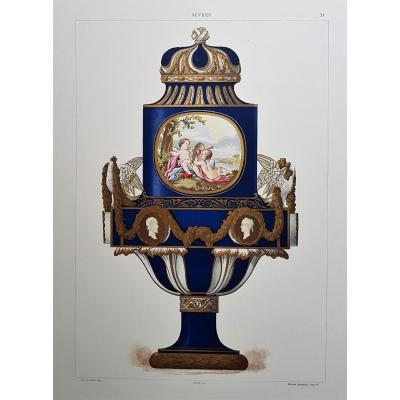 E. Garnier, Chromo Lithographie, Sèvres. 1892 : Vase royal