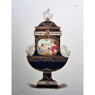 E. Garnier, Chromo Lithography, Sèvres. 1892: Vase Angora (buckingham Palace)