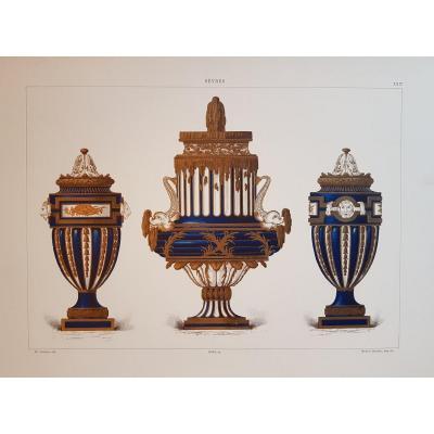Ed. Garnier, Chromo Lithographie, Sèvres.  Vases Néo-classiques Wallace Collection