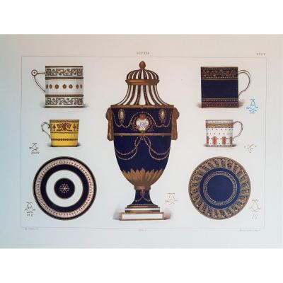 Ed. Garnier, Chromo Lithographie, Sèvres 1892. Porcelaines Des Années 1780