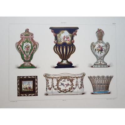 """E. Garnier, """"the Soft Porcelain Of Sèvres"""", 1892. Chromo Lithography. Coll Wj Goode"""