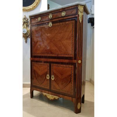 Secretary Louis XVI Period Marquetry XVIII