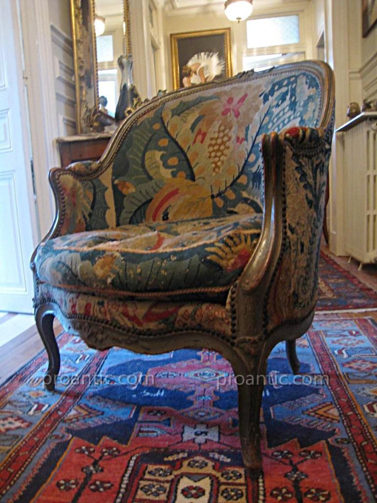 Bergère Gondole Louis XV XVIII ème