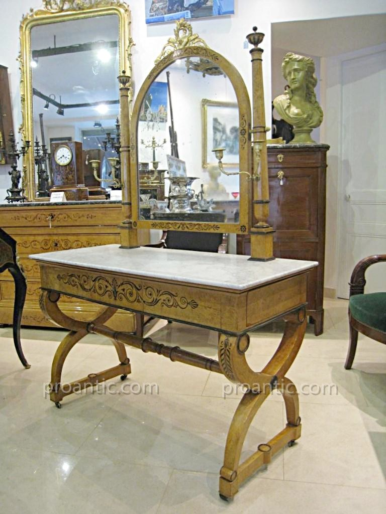 Important Charles X Table Dressing Table