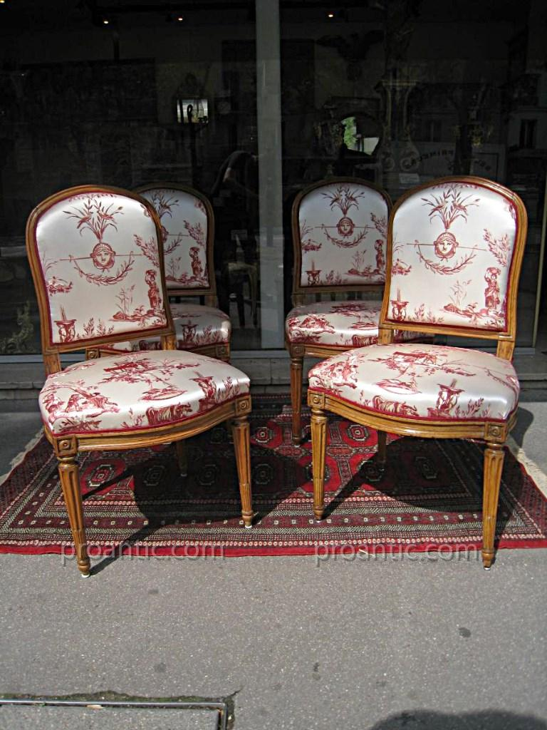 Suite Four Chairs XVIIIth Stamped Jb Boulard