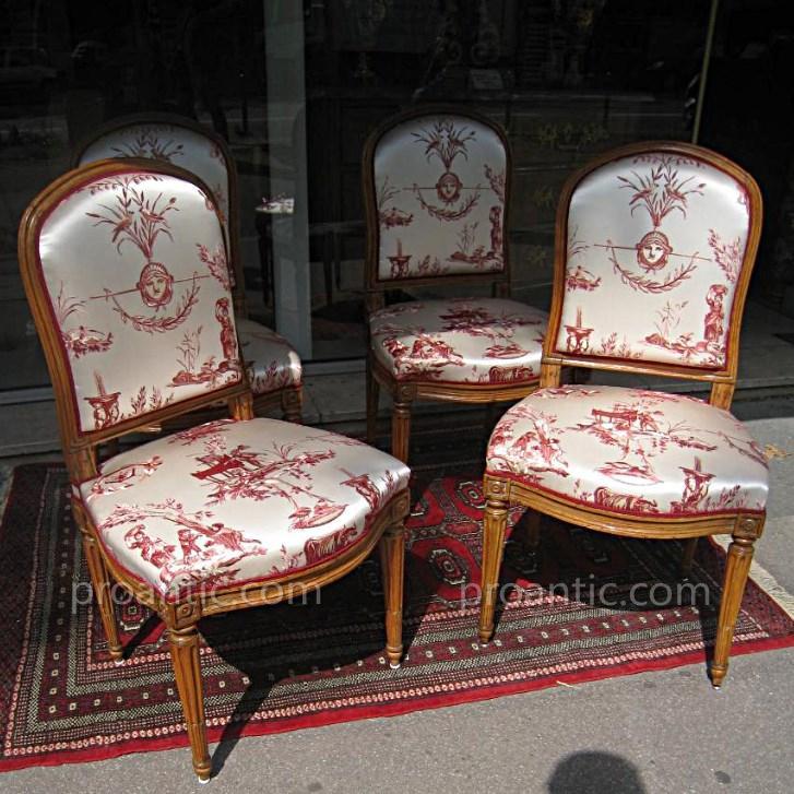 Suite De Quatre Chaises XVIII ème Estampillées J.b Boulard-photo-2