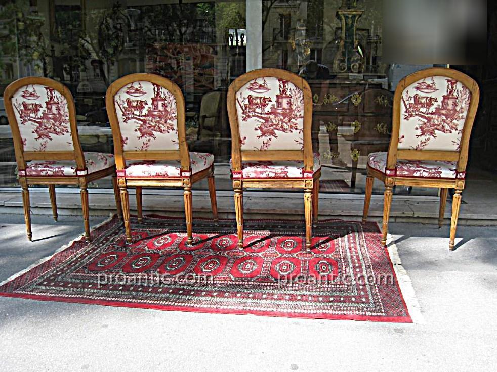 Suite De Quatre Chaises XVIII ème Estampillées J.b Boulard-photo-3