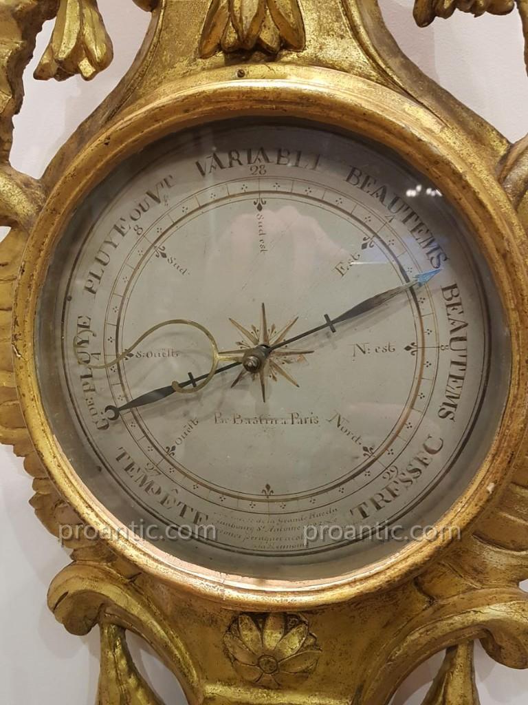 """Baromètre """"par Bastin à Paris"""" Epoque Louis XVI-photo-3"""
