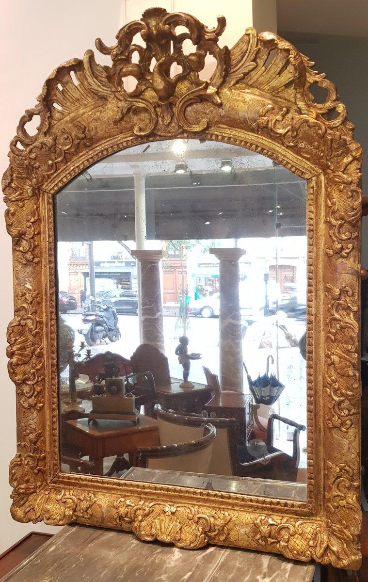 Miroir à Fronton Epoque Régence XVIII ème