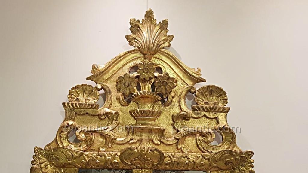 Miroir à Pareclose d'Epoque Régence XVIII ème