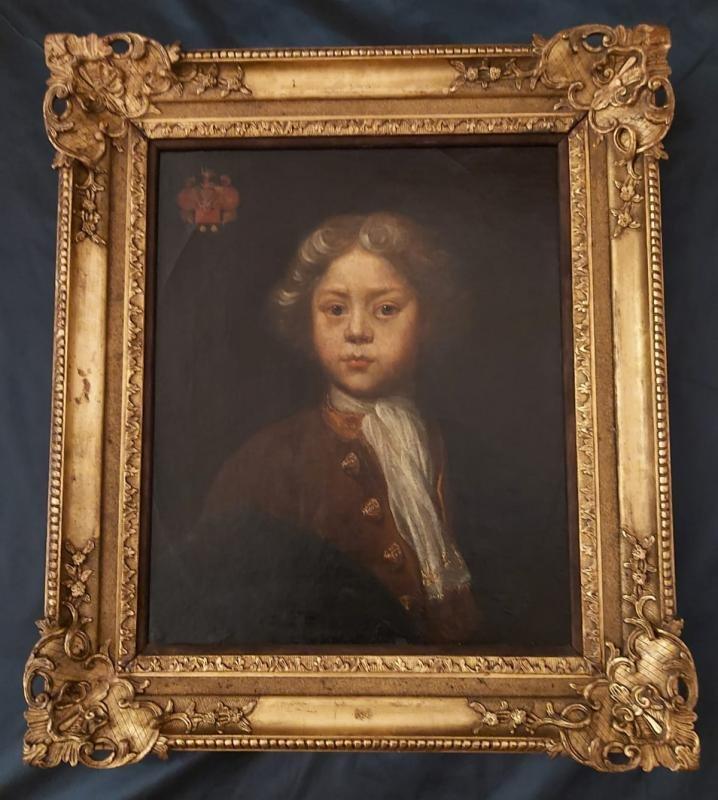 Portrait d'Enfant Ecole Anglaise Début XVIII ème-photo-3