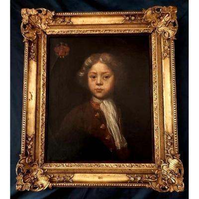 Portrait d'Enfant Ecole Anglaise Début XVIII ème