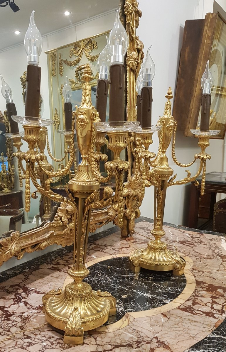 Pair Of Candelabra Signed F Barbedienne XIX