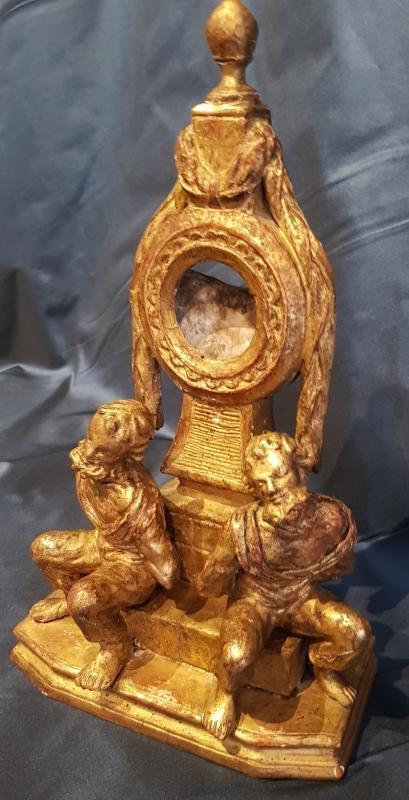 Porte-montre En Bois Sculpté Et Doré Epoque Louis XVI XVIII ème