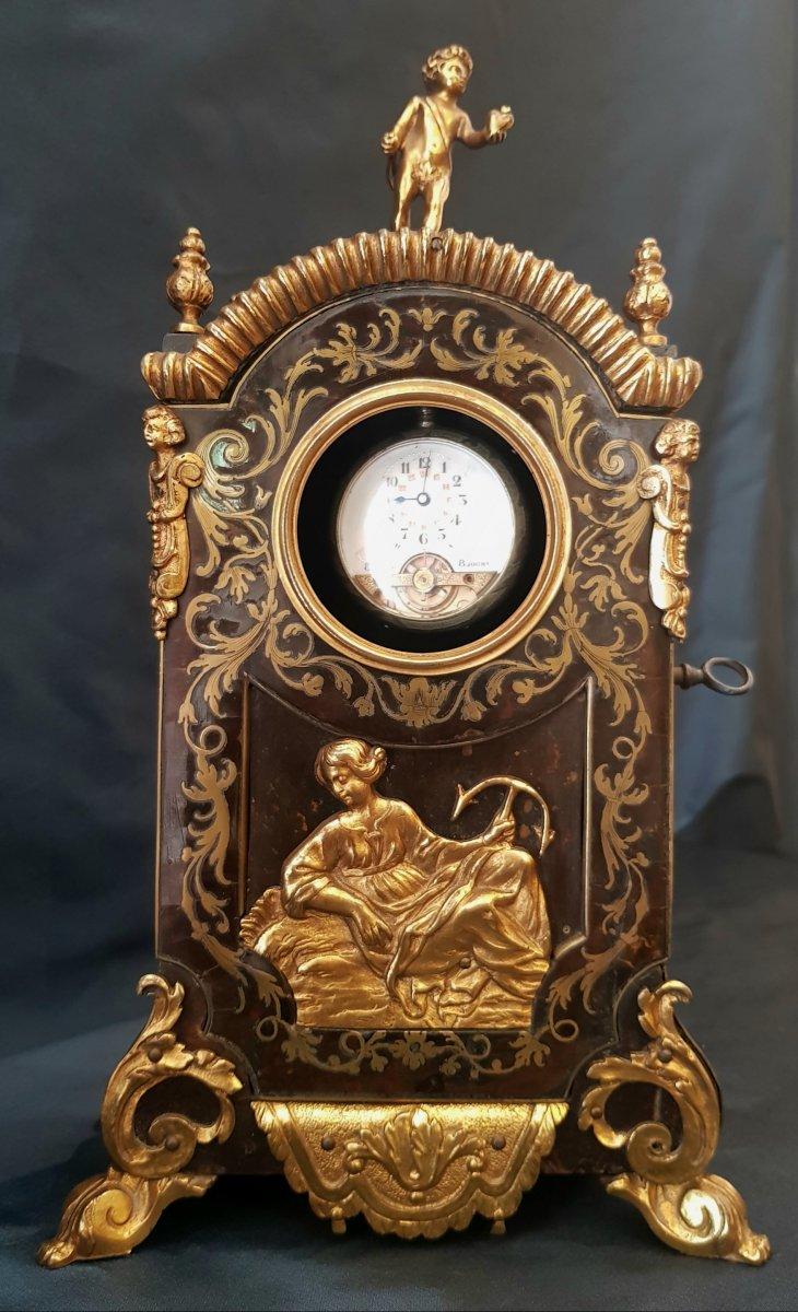 Cartel Porte-montre En Marqueterie Boulle Epoque Régence XVIII ème