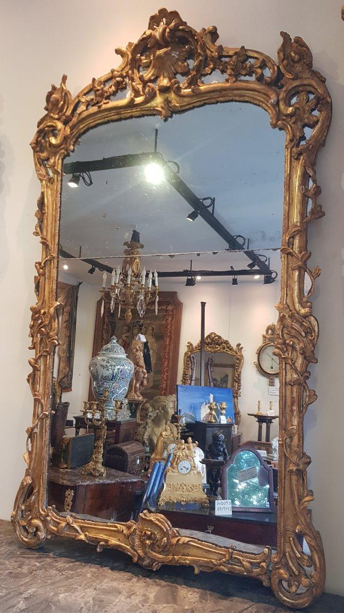 Miroir à Pare-closes Epoque Louis XV XVIII ème