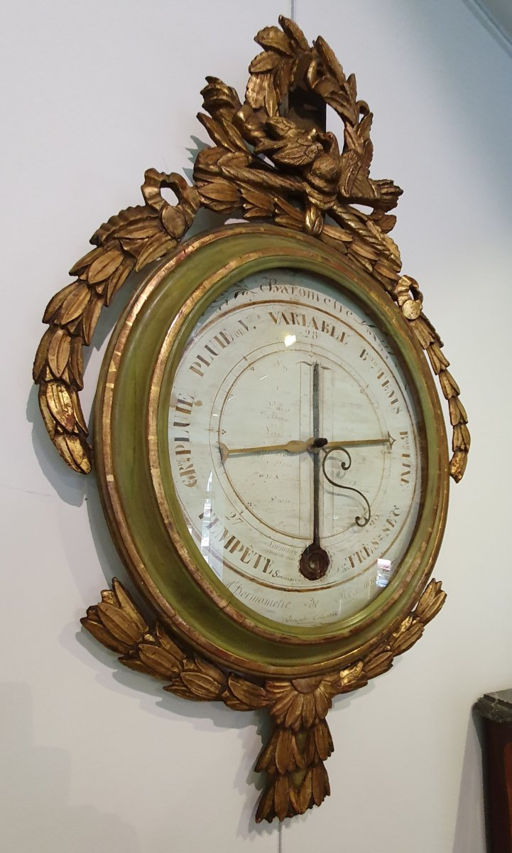 "Baromètre Thermomètre  Signé ""Sormany ""Fin XVIII ème"