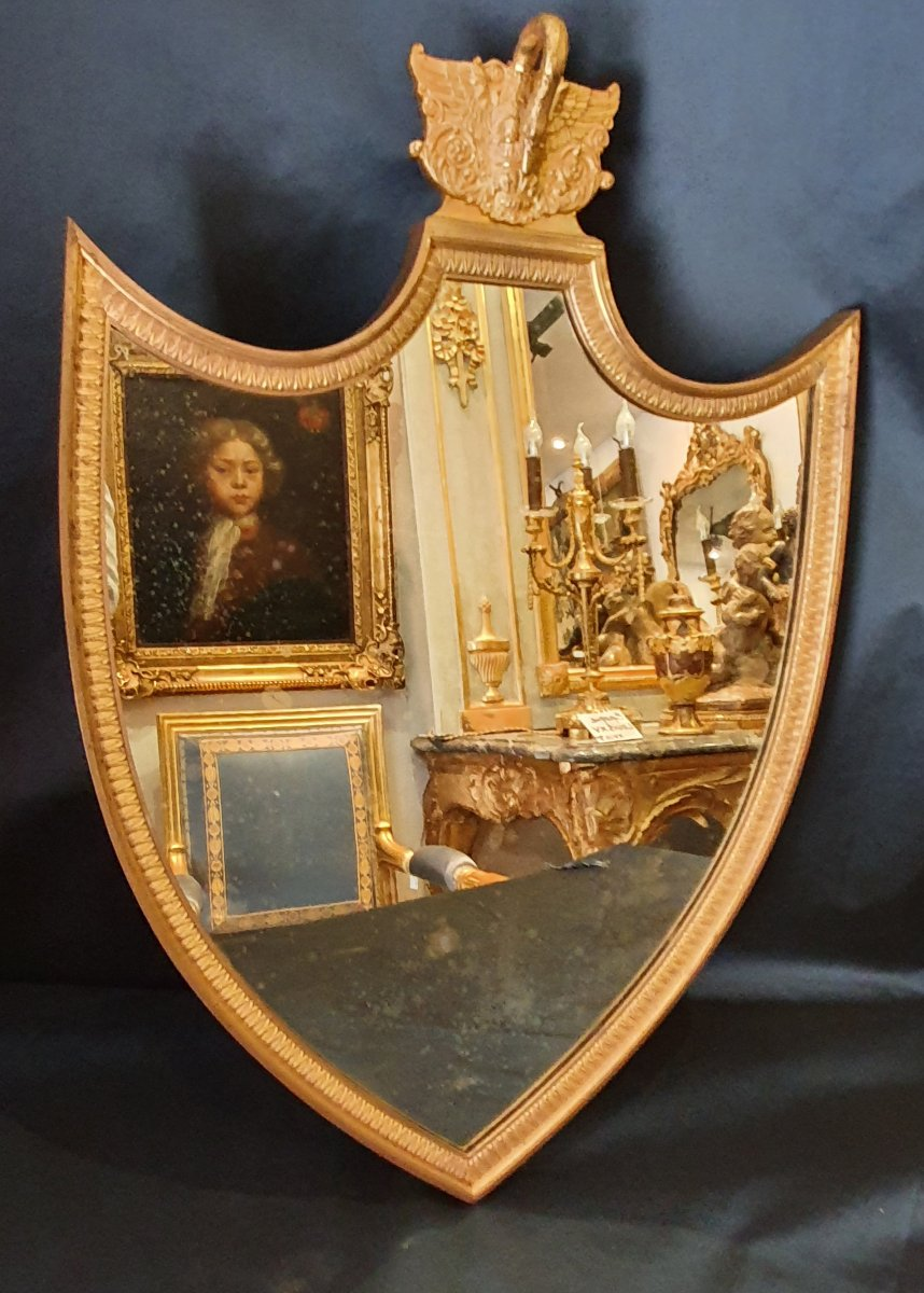 Miroir En Bronze Doré Epoque Restauration XIX ème