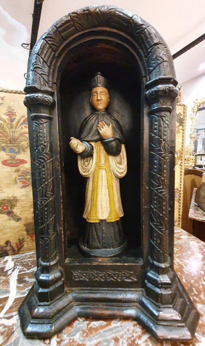 Saint Yves Sculpture En Bois Polychrome XVIII ème