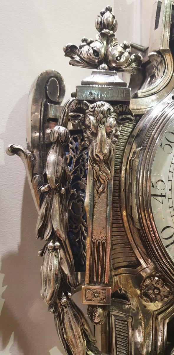 Cartel d'Applique En Bronze Argenté  Epoque Louis XVI XVIII ème -photo-2