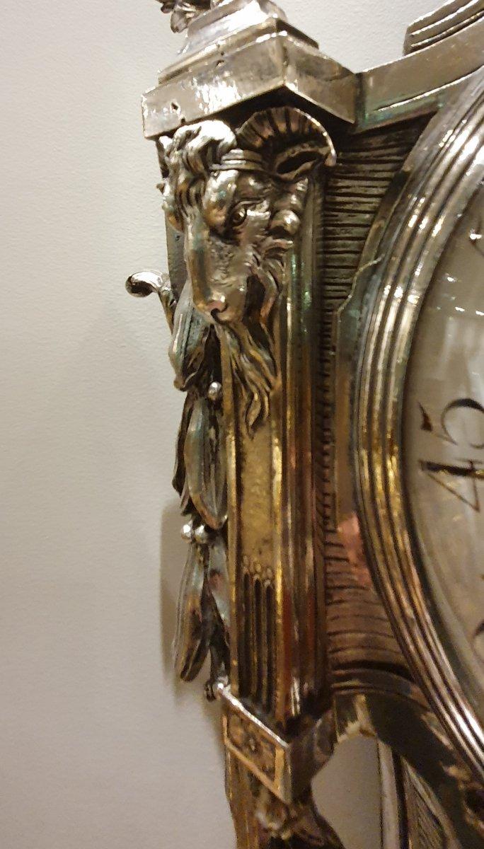Cartel d'Applique En Bronze Argenté  Epoque Louis XVI XVIII ème -photo-5