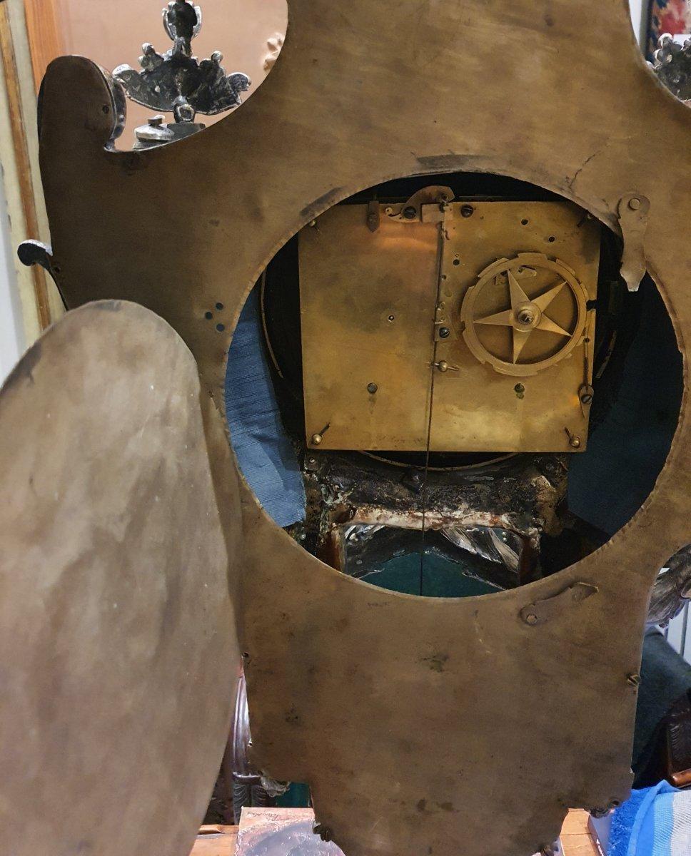 Cartel d'Applique En Bronze Argenté  Epoque Louis XVI XVIII ème -photo-7